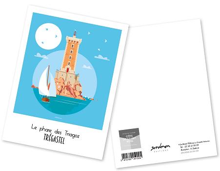 28 - Carte postale TREGASTEL Raphaël Delerue