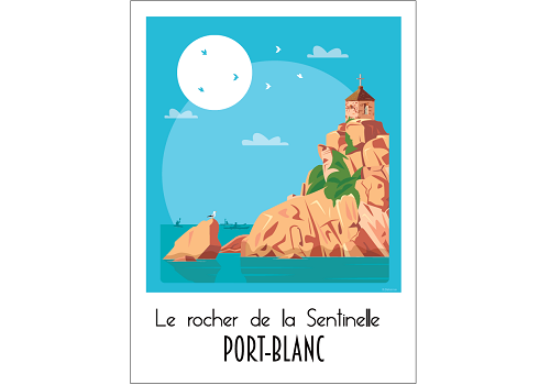 44 - Carte postale PORT-BLANC Raphaël Delerue