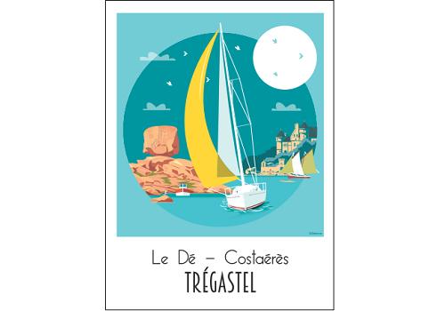 41 - Carte postale TREGASTEL le Dé Raphaël Delerue