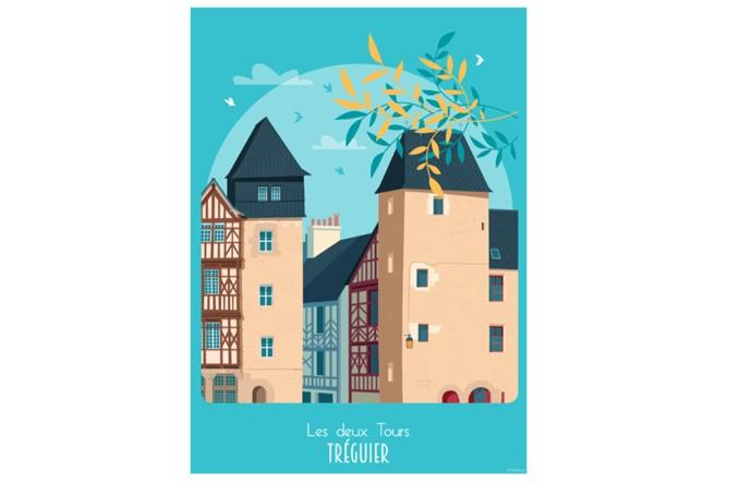35 - Affiches TREGUIER les 2 tours Raphaël Delerue