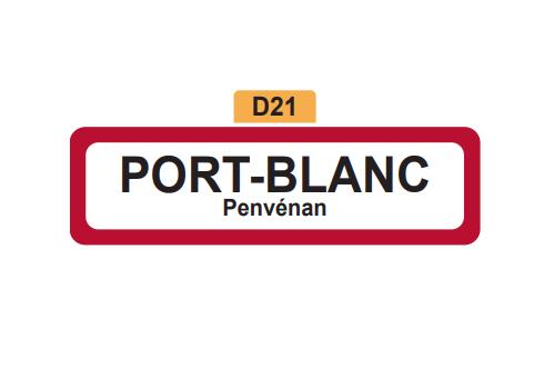 27 - Magnet Plaque de ville PORT-BLANC