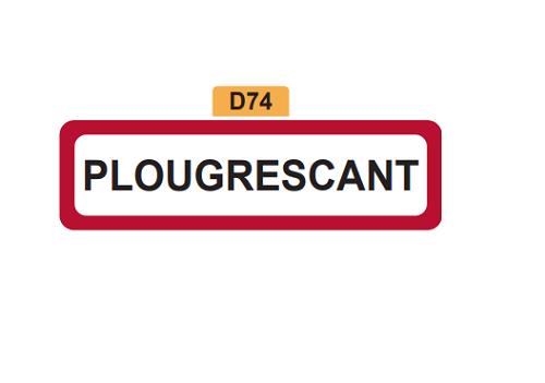 28 - Magnet Plaque de ville PLOUGRESCANT