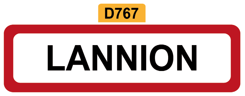 19 - Magnet Plaque de ville LANNION
