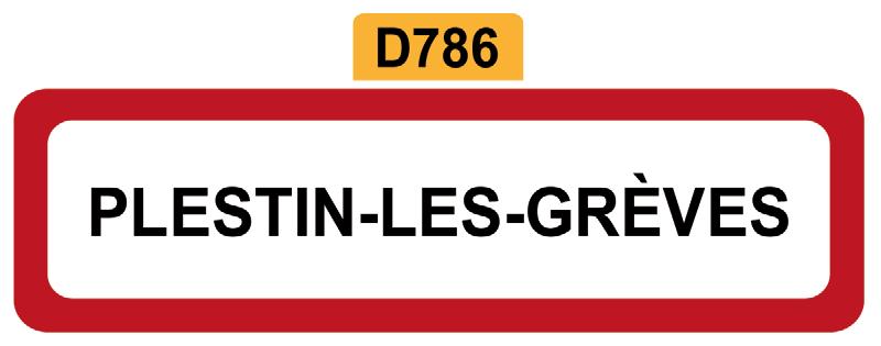 20 - Magnet Plaque de ville PLESTIN-LES-GREVES