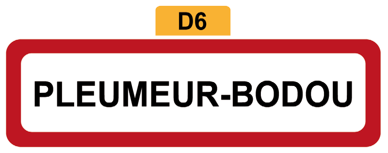 24 - Magnet Plaque de ville PLEUMEUR-BODOU
