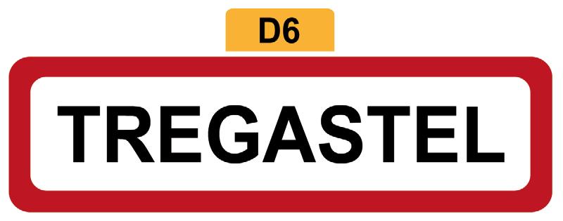 22 - Magnet Plaque de ville TREGASTEL