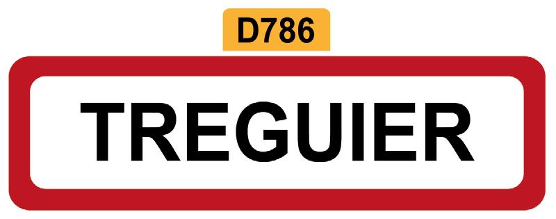 21 - Magnet Plaque de ville TREGUIER